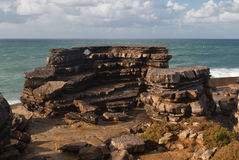 Cabo Carvoeiro. Cape Carvoeiro is situated on the edge of the peninsula of Peniche, overlooking the Atlantic Ocean. It is a place of great natural and scenic Stock Images