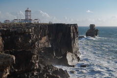 Cabo Carvoeiro. Cape Carvoeiro is situated on the edge of the peninsula of Peniche, overlooking the Atlantic Ocean. It is a place of great natural and scenic Royalty Free Stock Photos