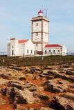 Cabo Carvoeiro Lighthouse in Portugal Royalty Free Stock Images