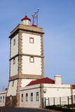 Cabo Carvoeiro Lighthouse in Portugal Royalty Free Stock Image