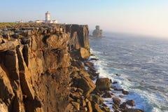Cabo Carvoeiro in Zuid-Portugal Stock Afbeeldingen