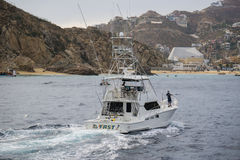 Cabo Charter Boat. Fishing charter boat in Cabo San Lucas, Mexico royalty free stock photos