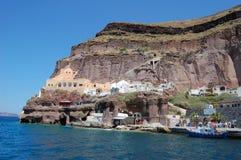 Cabo cor-de-rosa, a ilha de Santorini, Grécia ilustração do vetor