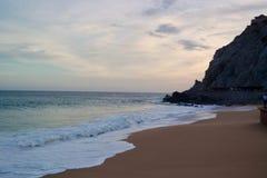 Cabo, coucher du soleil de plage du Mexique Photographie stock