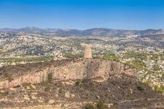 Cabo DÂ'Or da torre, Alicante, costa da Espanha Foto de Stock Royalty Free