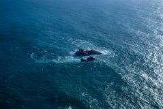 cabo da葡萄牙roca 在大西洋的峭壁,欧洲大陆的多数向西点 免版税图库摄影