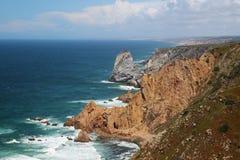 cabo da葡萄牙roca 库存图片