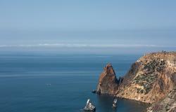 Cabo da foto no banco o Mar Negro Imagem de Stock Royalty Free