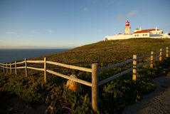 cabo da latarni morskiej Portugal roca Zdjęcia Royalty Free