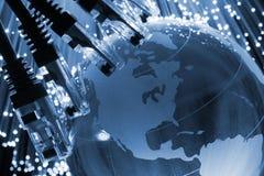 Cabo da rede global imagens de stock