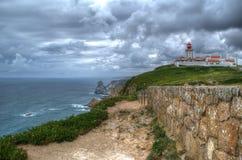 Cabo da Roca,大西洋,葡萄牙 库存照片