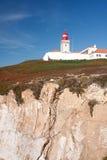Cabo da Roca,葡萄牙。 库存图片