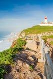Cabo da Roca,葡萄牙 库存照片