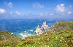 Cabo da roca,西部点 免版税库存照片