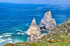 Cabo da roca,西部点 库存图片