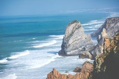 Cabo da roca,西部问题的欧洲,葡萄牙 库存图片