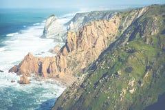 Cabo da roca,西部问题的欧洲,葡萄牙 免版税库存照片