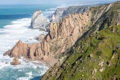 Cabo da roca,西部问题的欧洲,葡萄牙 免版税库存图片