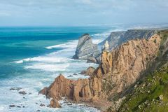 Cabo da roca,西部问题的欧洲,葡萄牙 免版税图库摄影