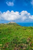 Cabo da roca,西部问题的欧洲 库存照片