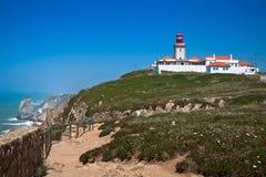 Cabo DA Roca (ακρωτήριο Roca), Πορτογαλία Στοκ εικόνες με δικαίωμα ελεύθερης χρήσης