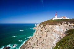 Cabo DA Roca, δύση το περισσότερο σημείο της Ευρώπης, Πορτογαλία Στοκ φωτογραφίες με δικαίωμα ελεύθερης χρήσης