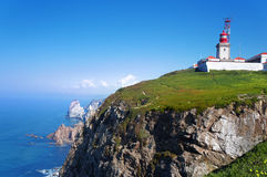 Cabo DA Roca, δύση το περισσότερο σημείο της Ευρώπης, Πορτογαλία Στοκ εικόνες με δικαίωμα ελεύθερης χρήσης
