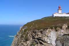 Cabo da Roca Португалия - конец мира Стоковое фото RF