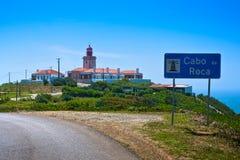 Cabo da Roca (海角Roca),葡萄牙 库存照片