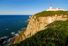 Cabo da Roca. (Cape Roca) is a cape which forms the most western point of both mainland Portugal  and mainland Europe Stock Photo