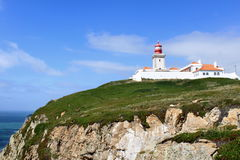 Cabo da Roca. The most westerly point of the European mainland, Portugal royalty free stock image