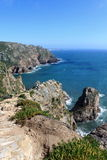 Cabo da Roca. The most westerly point of the European mainland, Portugal stock images