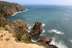 Cabo da Roca. The most westerly point of the European mainland, Portugal royalty free stock photos
