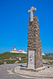 Cabo da Roca. Cape in the Most western point of Europe Royalty Free Stock Photography