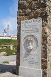 Cabo DA Roca στοκ εικόνα