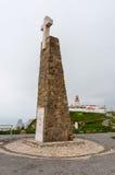 Cabo da Roca большинств западный пункт Европы Стоковое Изображение