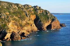 Cabo da Roca and Atlantic Ocean, Portugal royalty free stock image