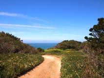 Cabo da Roca blisko Sintra, Portugalia, kontynentalny Europe's westernmost punkt Obraz Stock