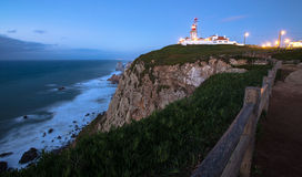 Cabo da Roca cape lighthouse in Portugal. Tinted.  Royalty Free Stock Photography