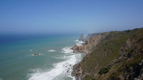 Cabo da Roca, Cape Roca, Portugal. Atlantic Ocean. Cabo da Roca is a cape which forms the westernmost extent of mainland Portugal and continental Europe Stock Photos