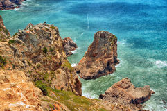 Cabo da Roca (Cape Roca), Portugal Stock Images