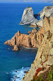 Cabo da Roca cliffs and Atlantic ocean, Portugal Royalty Free Stock Photo