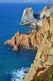 Cabo da Roca cliffs and Atlantic ocean, Portugal royalty free stock photo