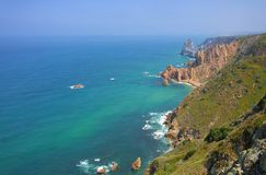 Cabo da Roca coast Royalty Free Stock Image