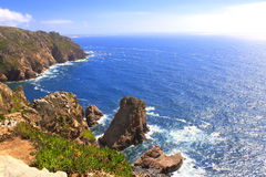 Cabo da Roca, coast of Portugal, the most western point of Europ Royalty Free Stock Image
