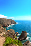 Cabo da Roca, coast of Portugal, the most western point of Europ Royalty Free Stock Photos