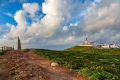 Cabo DA Roca el extremo de Europa Foto de archivo libre de regalías