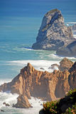 Cabo da Roca falezy i Atlantycki ocean (przylądek Roca) Fotografia Stock