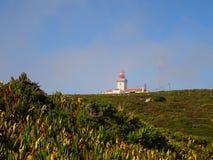 Cabo da Roca fyr på Corales, Sintra i Portugal Royaltyfri Foto