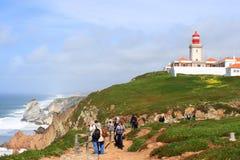 Cabo Da Roca i lighhouse Portugalia, Zdjęcie Stock